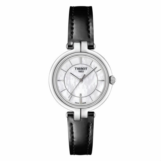 TISSOT天梭表 t0942101611100 FLAMINGO 女仕 腕錶  珍珠母貝