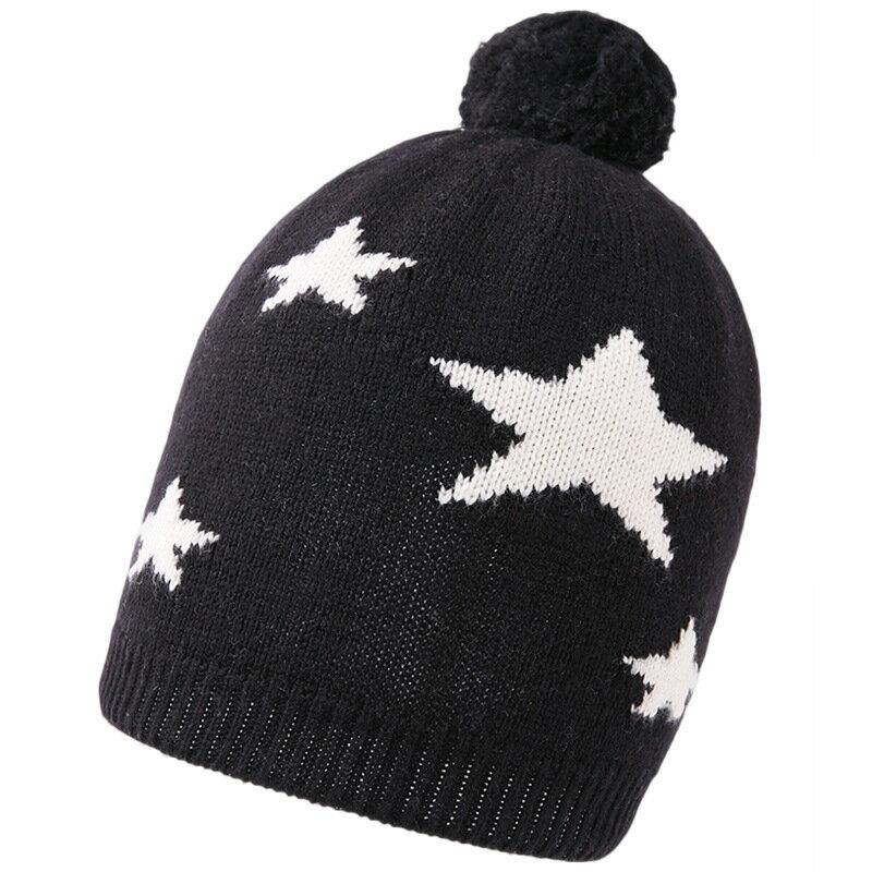 毛帽羊毛針織帽-毛球五星簡約保暖男帽子2色73wj30【獨家進口】【米蘭精品】 0