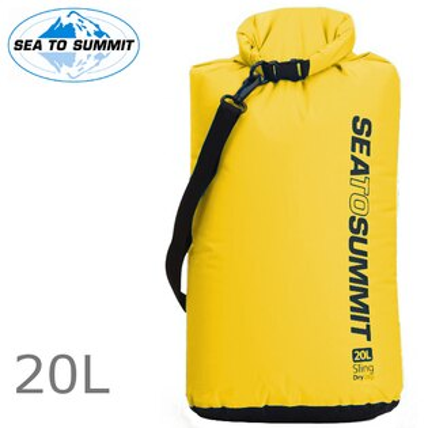 台北山水戶外用品專門店:SeatoSummit可揹負防水袋輕量防水收納袋70D背負防水袋SlingDryBag20L黃色ASBAG20LYW