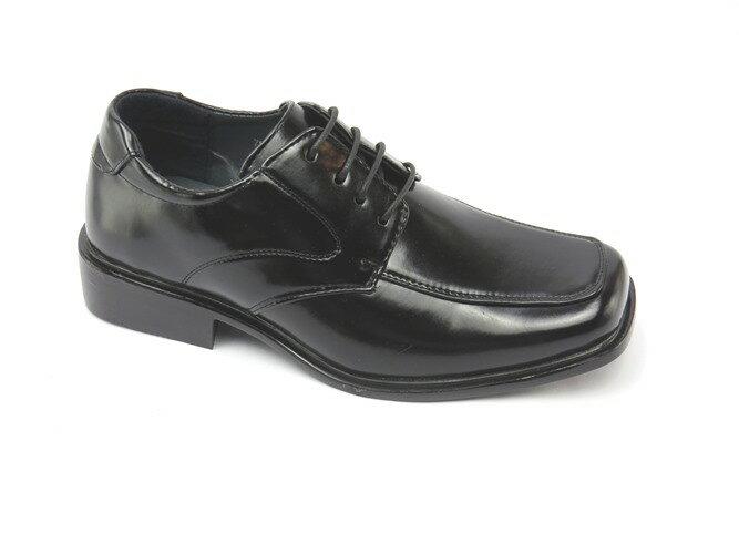 *男皮鞋* 時尚舒適方頭排壓氣墊皮鞋77-7825(黑)☆【彩虹屋】☆