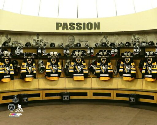 The Pittsburgh Penguins locker room before Game 2 of the 2016 Stanley Cup Finals Photo Print (16 x 20) 767f2e8e8261128b57d0080b7ca0ffe4