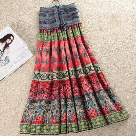 波西米亞亞麻洋裝 / 長裙 (可兩穿)【27103】藍色巴黎 《 5色》現貨+預購 1