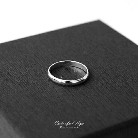 925純銀戒指 簡約素面基本款尾戒 抗過敏材質 生日禮物 柒彩年代【NPC1】 0