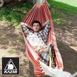 【【蘋果戶外】】KAZMI K5T3C005 單人彩虹吊床 行軍床/搖搖椅/折疊躺椅/庭園休閒躺椅