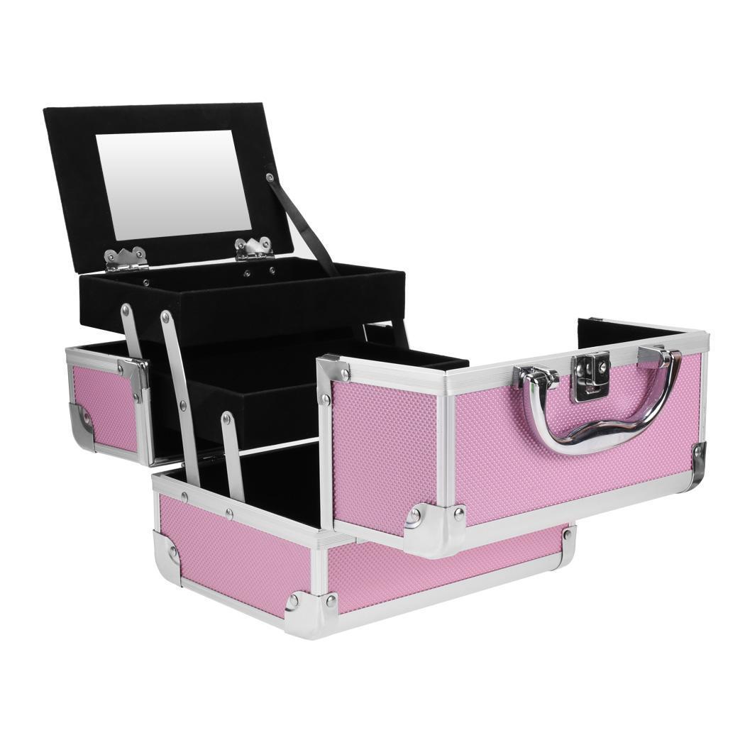 Lockable Makeup Travel Case Jewelry Box 2