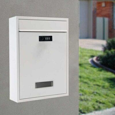 信箱 信報箱總經理郵筒收件箱家用掛壁報室外防水帶鎖歐式意見箱『TZ1000』 1