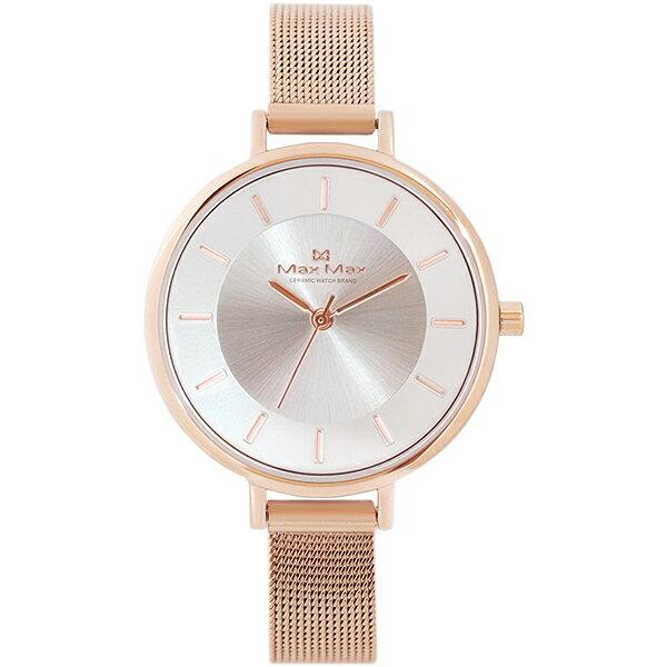 MaxMaxMAS7015-2迷人簡約米蘭帶腕錶-玫瑰金32mm