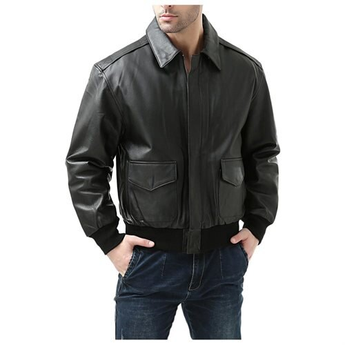 Landing Leathers Men's Air Force A-2 Leather Flight Bomber Jacket 1