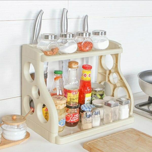 置物架-魔術收納廚房調味料架  刀架 瀝水收納架 浴室收納架 【AN SHOP】