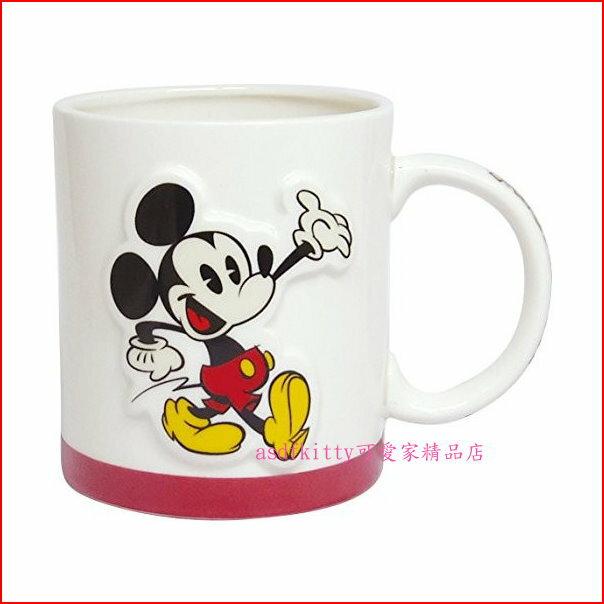 asdfkitty可愛家☆迪士尼米奇立體造型陶瓷馬克杯-日本正版商品