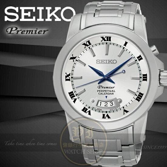 SEIKO日本精工PREMIER都會典藏萬年曆紳士腕錶6A32-00X0J/SNQ145J1公司貨