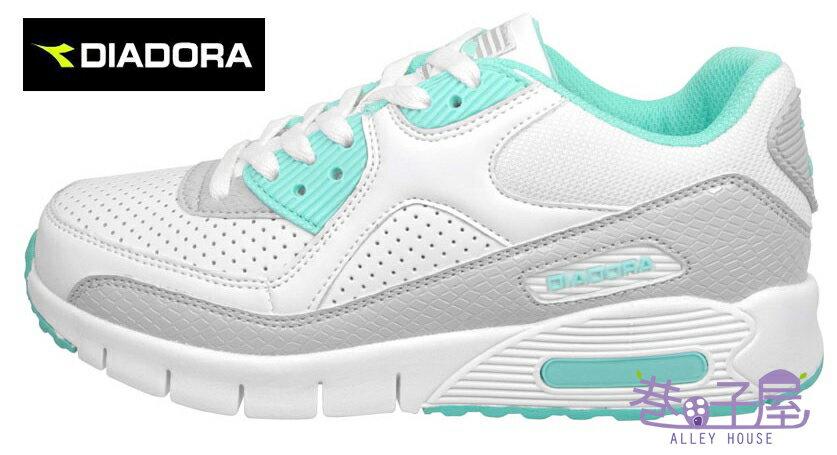 【巷子屋】義大利國寶鞋-DIADORA迪亞多納 女款D寬楦超輕潮流慢跑鞋 200g [2885] 綠 超值價$756