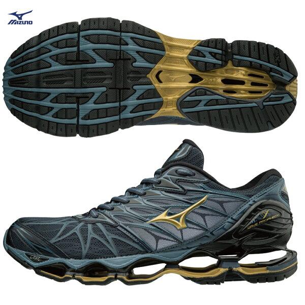 J1GC180050(灰X金)頂級鞋款WAVEPROPHECY7支撐型男款慢跑鞋【美津濃MIZUNO】