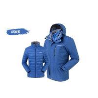 保暖推薦男羽絨外套推薦到《台南悠活運動家》SUMMIT BL201 男款三合一羽絨發熱外套-靜謐藍就在悠活運動家推薦保暖推薦男羽絨外套