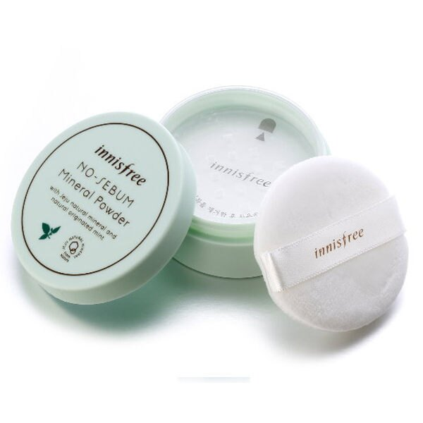 韓國 Innisfree 無油光天然薄荷礦物控油蜜粉 5g【巴布百貨】