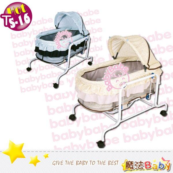 魔法Baby~台灣製造電動水平搖床(藍色小花.黃兩款)~嬰幼兒用品~ts16