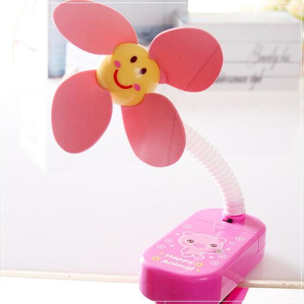 魔法Baby~嬰兒推車用安全夾飾風扇(粉紅豬)~嬰幼兒用品~時尚設計~b20014_a