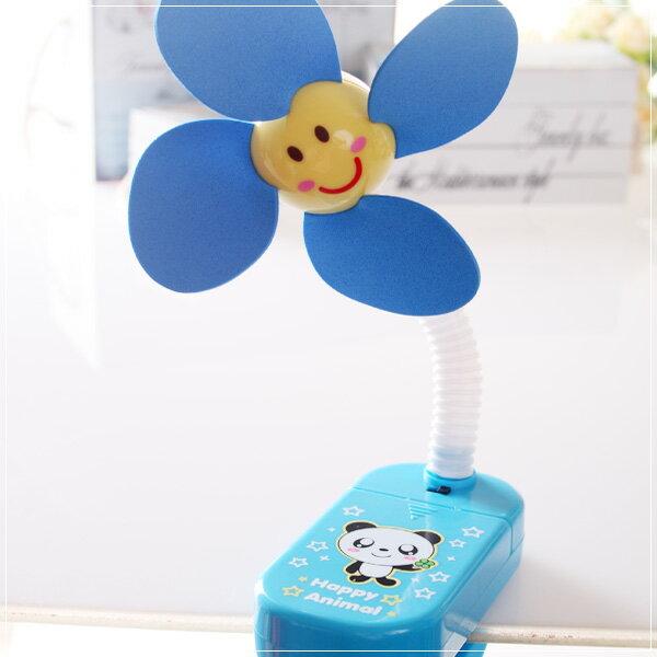 魔法Baby~嬰兒推車用安全夾飾風扇(藍熊貓)~嬰幼兒用品~時尚設計~b20014_b