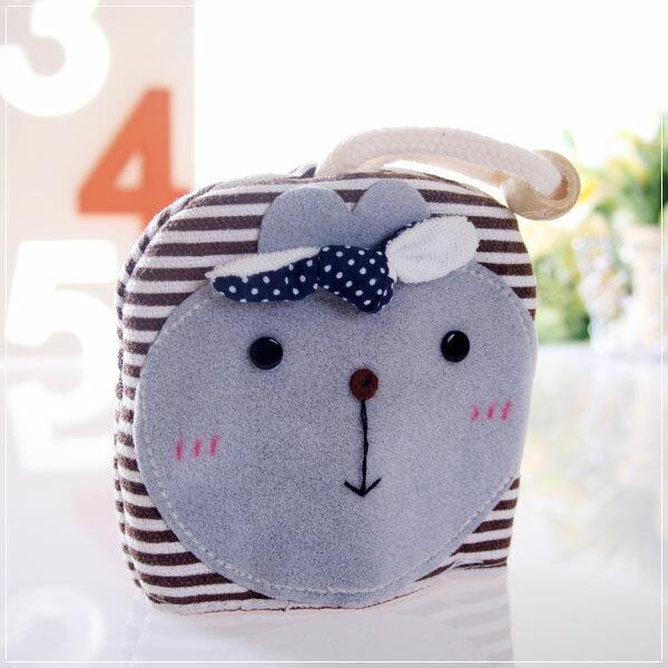魔法Baby~日本風手工拼布鑰匙&零錢包(條紋小兔)~孩童&大人用品~時尚設計~f0057