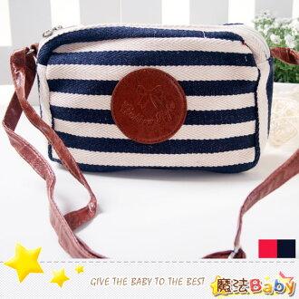 魔法Baby~日本風手工創意新朝側背包(深藍、紅條紋兩款)~雜貨小品~時尚設計~f0104