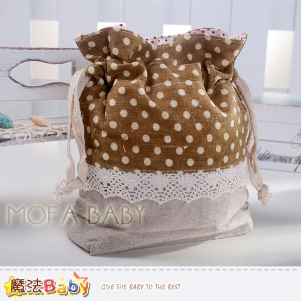 魔法Baby~日本風長型拼布束口小物袋(亞麻灰/咖啡)~大人&小孩用品~f0116