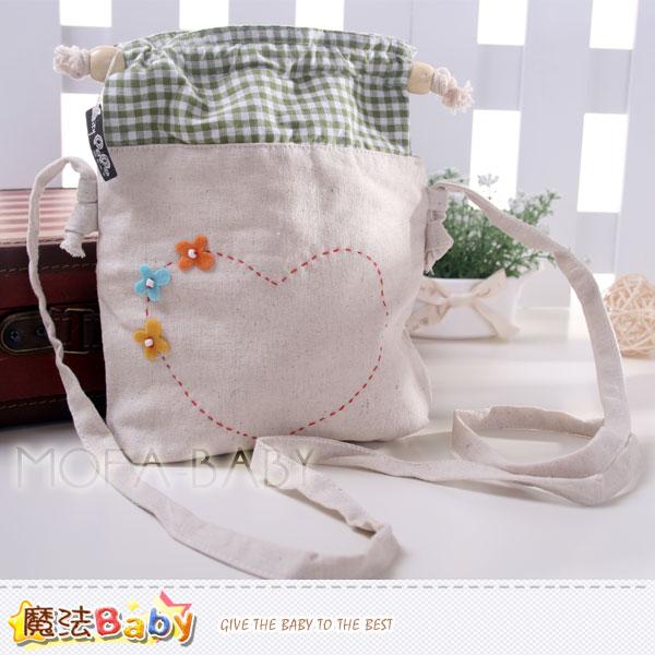 魔法Baby~愛心拼布束口方型側背包~大人  小孩用品~f0118