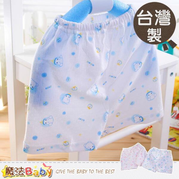 居家短褲~台灣製清涼緹花布男女童短褲(藍.粉)~(12~24M)~魔法Baby~h1113
