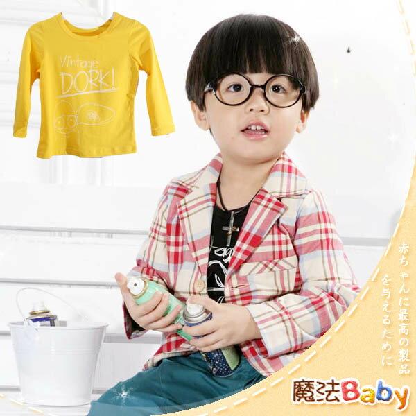 魔法Baby ~ 潮流DORK小飛行員款純棉長Tee(黃)~ ~小潮男女 ~  ~k24159
