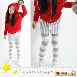 魔法Baby~俏皮合身森林系自然條紋裙褲~女童裝~時尚設計童裝~k26764