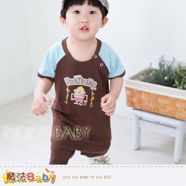 [魔法Baby]寶寶短袖連身衣/包屁衣~男女童裝~k28294