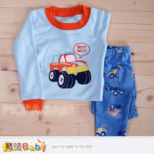 【魔法Baby】兒童純棉小車休閒居家套裝~男童裝~k29321