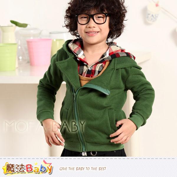 魔法Baby~DODOMO品牌~韓版厚款斜拉鍊連帽外套/上衣~男童裝~k29840