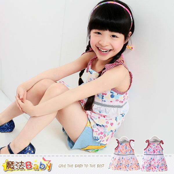 吊帶裙~嬰幼兒細肩帶連身裙 紅.桔兩色, 出貨 ~魔法Baby~k34905