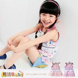 吊帶裙~嬰幼兒細肩帶連身裙(紅.桔兩色,隨機出貨)~魔法Baby~k34905