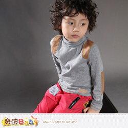 童裝 專櫃品牌流行童裝高領長袖T恤 魔法Baby~k37357