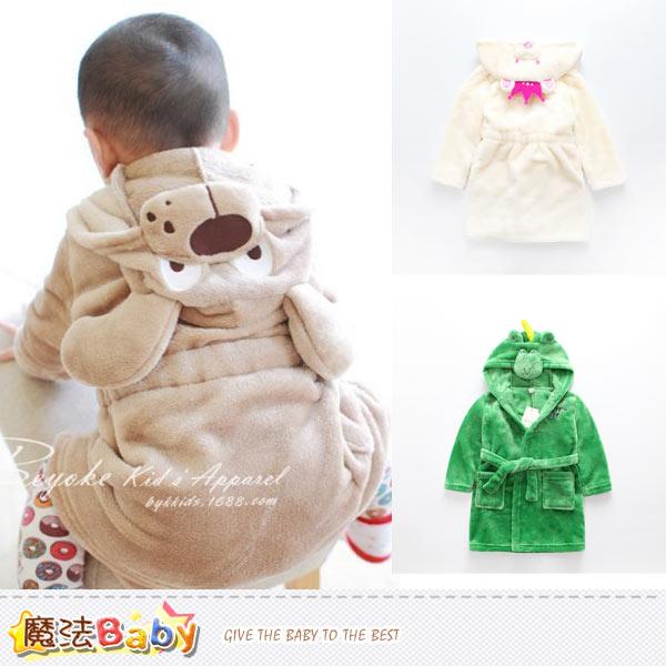 兒童浴袍 超舒柔法蘭絨保暖浴袍(A.B.C) 魔法Baby~k38262