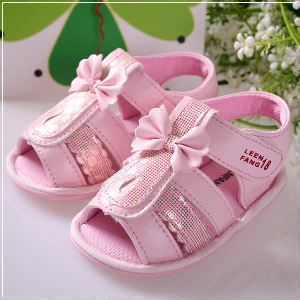 魔法Baby ~KUKI 酷奇蝴蝶結十字格紋童鞋(粉)~s5669