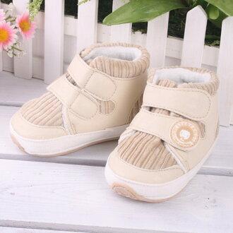 ★ 魔法Baby ★【KUKI 酷奇舒適棉布學步鞋/寶寶鞋/高筒鞋☆男童鞋☆s2026】(米)