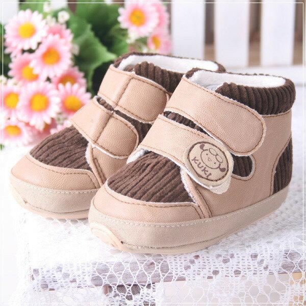 ★ 魔法Baby ★【KUKI 酷奇舒適棉布學步鞋/寶寶鞋/高筒鞋☆男童鞋☆s2026】(咖)