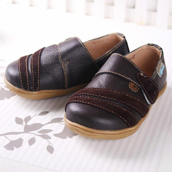 ★ 魔法Baby ★KUKI 酷奇帥氣小紳士真皮休閒鞋☆男童鞋☆s3412