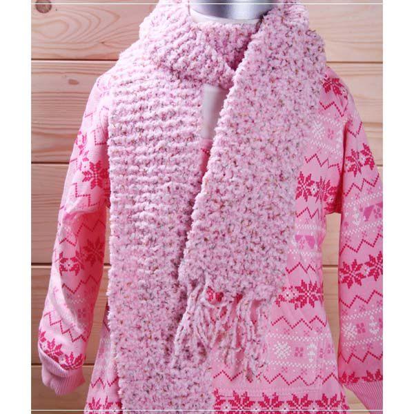 魔法Baby ~日本進口毛線純手工編織女童圍巾~外出用品~k00712 ~a