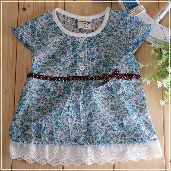 魔法Baby ~氣質系碎花蕾絲小洋裝~童裝~女童裝~時尚設計童裝~k19315