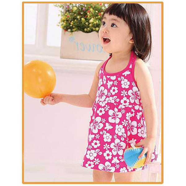 魔法Baby ~夏季沙灘裙(粉紅)~童裝~女童裝~時尚設計童裝~k19650