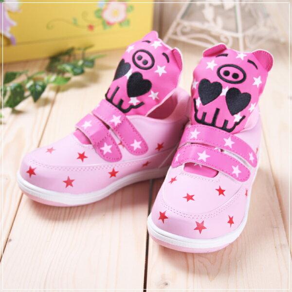 ★ 魔法Baby ★KUKI 酷奇時尚繽紛印花休閒童鞋☆女童鞋☆s4099