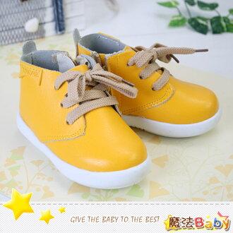 魔法Baby~【KUKI酷奇】韓潮質感假綁帶寶寶鞋/學步鞋~時尚設計童鞋~s4501