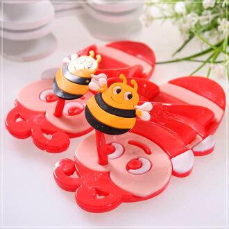 魔法Baby ~KUKI 酷奇可愛蜜蜂造型俏皮系脫鞋(紅)~男童鞋~s5881