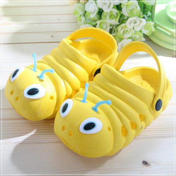 魔法Baby ~知名品牌 KUKI 酷奇毛毛蟲輕便鞋(黃)~男女童鞋~s5997