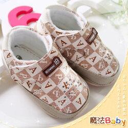 魔法Baby~【KUKI酷奇】質感系美式英文字母寶寶鞋/學步鞋(杏)~男女童鞋~時尚設計童鞋~sh0705