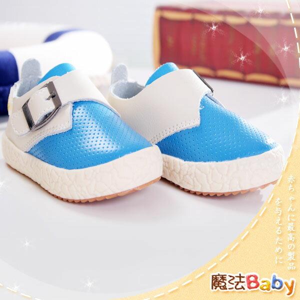 零碼特價出清質感系素面領巾風柔軟潮鞋(藍)寶寶鞋/學步鞋~男女童鞋~時尚設計童鞋~sh0842