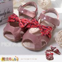 魔法Baby~【KUKI酷奇】繽紛點點蝴蝶結涼鞋/寶寶鞋/女童鞋~sh2532 0